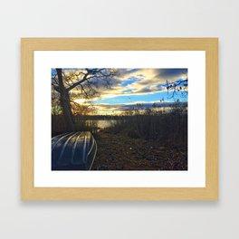 Boat Clouds Framed Art Print