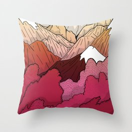 Autumnal Mountains Throw Pillow