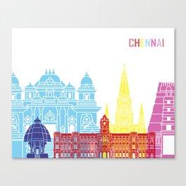 Chennai skyline pop Canvas Print