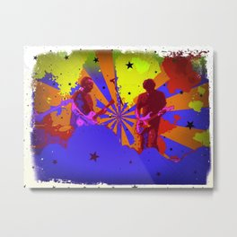Psychedelic Stage Metal Print