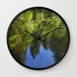 Redwood Ripples Wall Clock