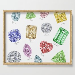 Gems pattern Serving Tray