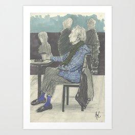 Man in Cafe´ Art Print