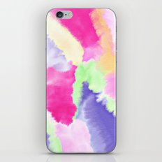 Modern bright pink purple green hand painted watercolor wash pattern iPhone & iPod Skin