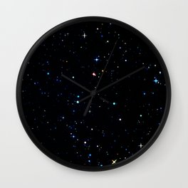 Rainbow Constellations Wall Clock