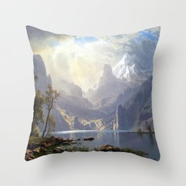 Albert Bierstadt In the Sierras Lake Tahoe Throw Pillow