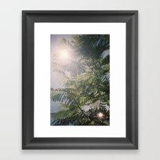 Flared Green Framed Art Print