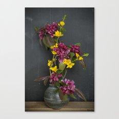 Cherry & Forsythia Canvas Print