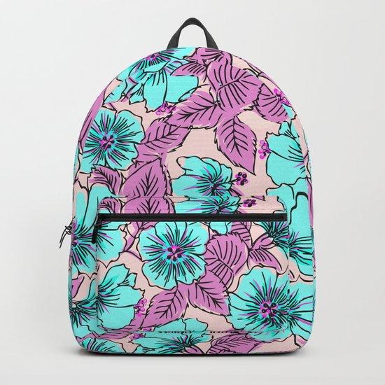Sweet Blue Flowers Backpack