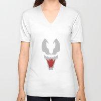 venom V-neck T-shirts featuring Venom by darkimagnus