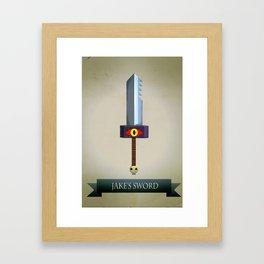Jake's Sword Framed Art Print