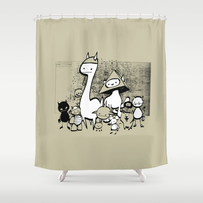 minima - coup Shower Curtain
