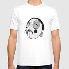 'Face III' Mens Fitted Tee MEDIUM White