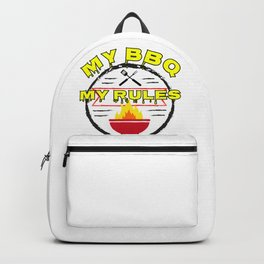 My BBQ My Rules Outdoor Grilling Grillmaster Backpack