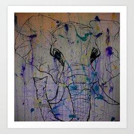 Splattered Life Art Print