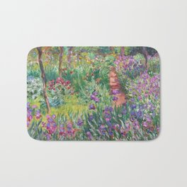 The Iris Garden at Giverny by Claude Monet Bath Mat