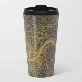 Cincinnati map Travel Mug