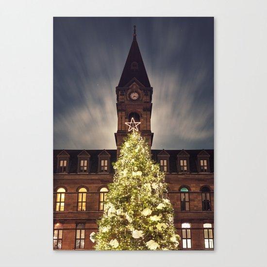 Christmas Tree at City Hall Canvas Print