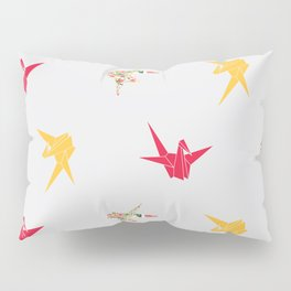 Paper Crane Pillow Sham