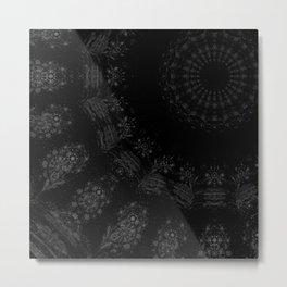 Black and White Mandala Metal Print
