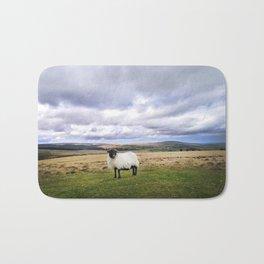 English Countryside Landscape and Sheep Bath Mat