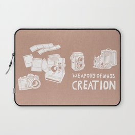Weapons Of Mass Creation - Photography (white) Laptop Sleeve