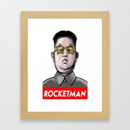 Rocket man Kim Jong-Un Donald Trump RocketMan Framed Art Print