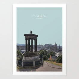 Edinburgh Cityscape Travel Artwork Art Print