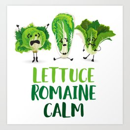 Lettuce Romaine Calm Art Print