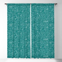 Physics Equations // Teal Blackout Curtain