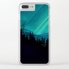 Magic in the Woods - Turquoise Clear iPhone Case