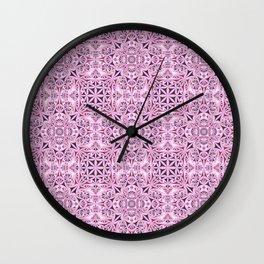 Pink kaleidoscope wallpaper Wall Clock
