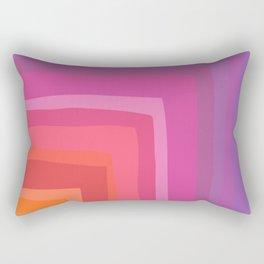 Vivid Vibrant Geometric Rainbow Rectangular Pillow