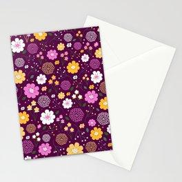 Violet Floral Stationery Cards