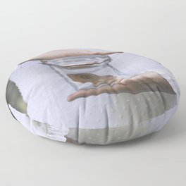 Doll in a jar Floor Pillow