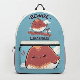 T-Rex Inside // Small Bird, Kawaii Angry Dinosaur Backpack