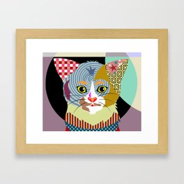 Spectrum Cat Framed Art Print