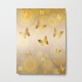Pattern butterfly 166 Metal Print