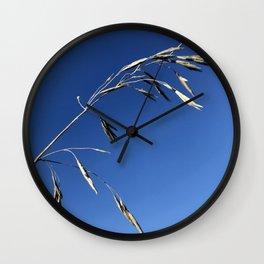 sky grass Wall Clock