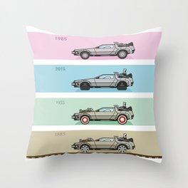 Back to the Future - Delorean x 4 Throw Pillow