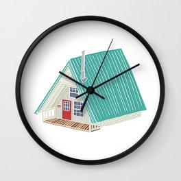 Little A Frame Cabin Wall Clock