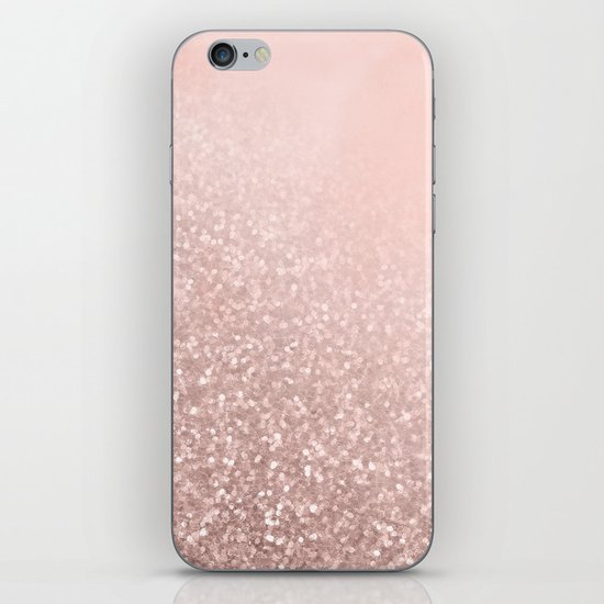 Rose Gold Sparkles on Pretty Blush Pink VI by naturemagick