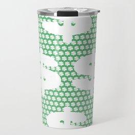 White dollar symbol Travel Mug