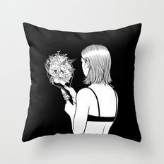 Fall in love with myself first Throw Pillow