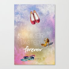 If only summer lasted forever...  Canvas Print