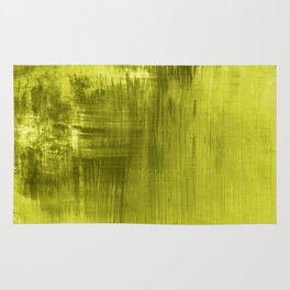 Chartreuse Modern Abstract Art I Rug