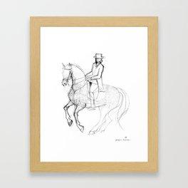 Horse (Canter Pirouette) Framed Art Print