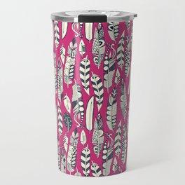 joyful feathers pink Travel Mug