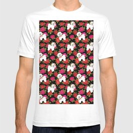 Bichon Frise dogs red rose floral for dog lovers T-shirt