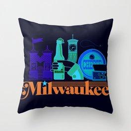 MKE ~ Milwaukee, WI Throw Pillow